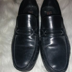 Florsheim Mens Black Loafers Sz 10